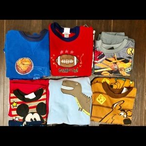 6 sets of long sleeves boy's pajama size 4T.